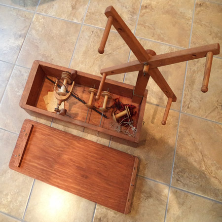 Antique Wooden Yarn Spinner