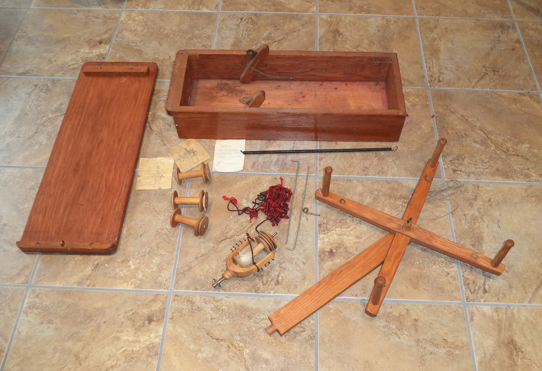 Antique Handmade Singer Treadle Attachment Skein Winder In Box