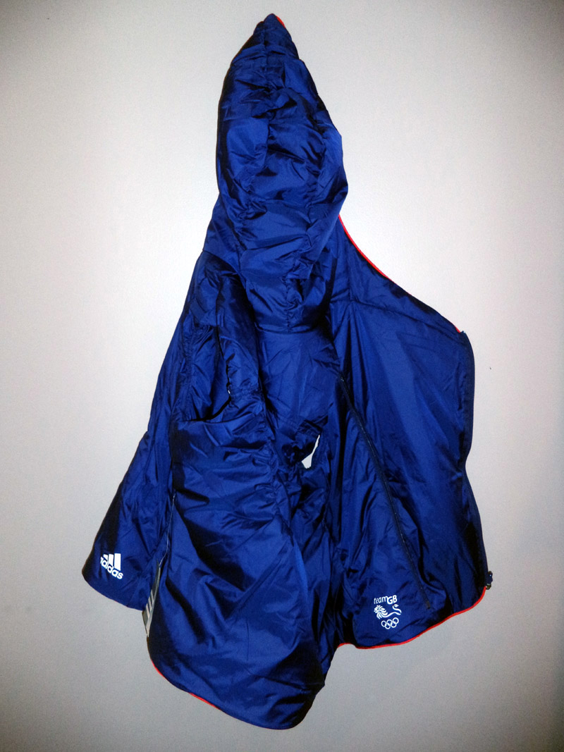 Adidas Reversible Marine Blue And Union Jack Team Great Britain Hooded Vest