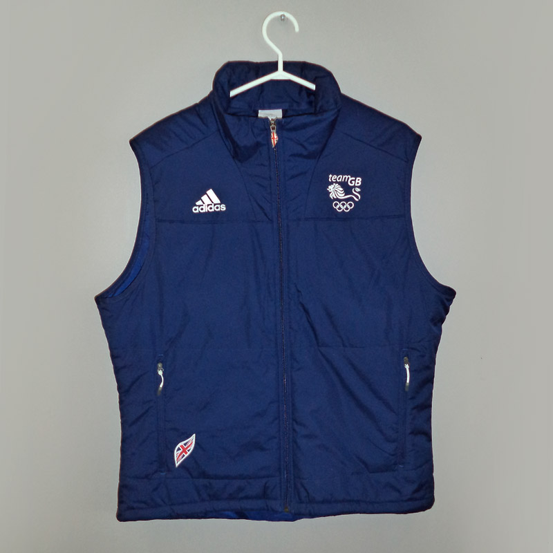 Blue Adidas Vest Team GB 2010 Winter Olympics GBR Kit - Front