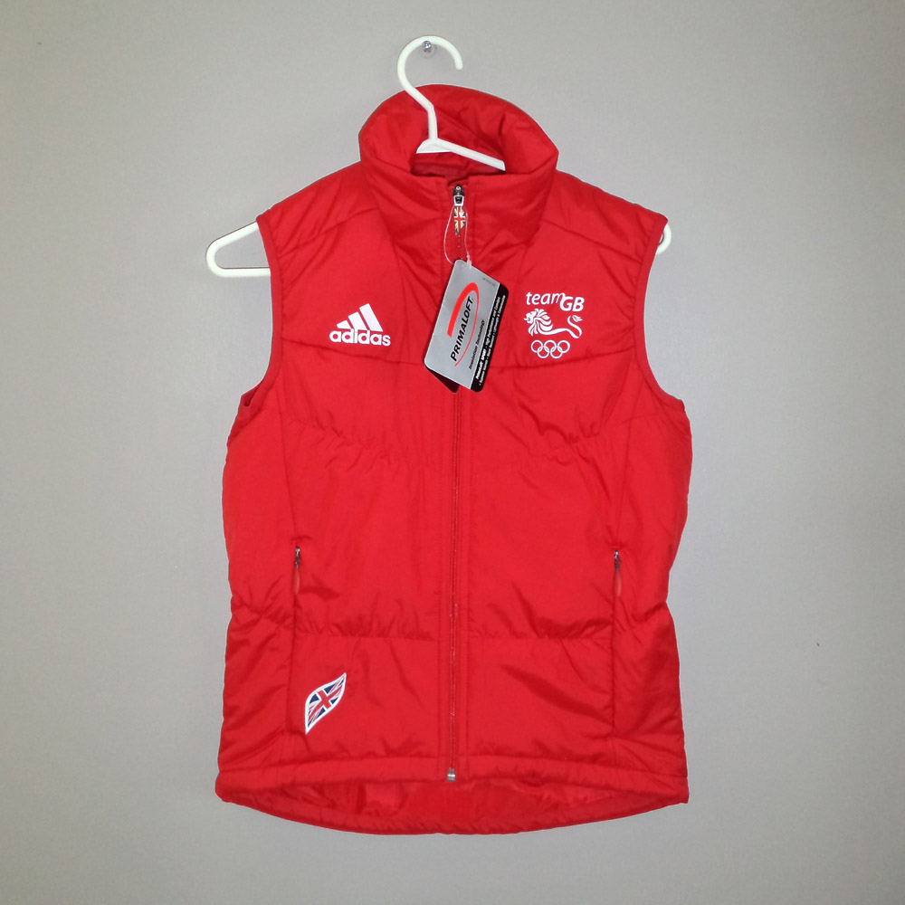 Red Team GB 2010 Winter Olympics Kit Adidas Vest - Front