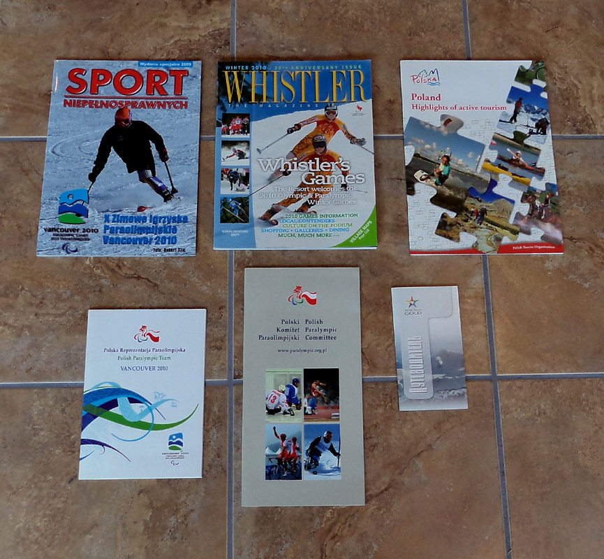 Magazines and Booklets from Team Poland during the Paralympic Games