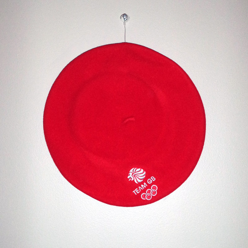 Team GB Olympic Ceremony Red Modelaine Wool Beret